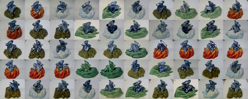 Dragons of Ming series, 50 dragons for Heden, click picture for bigger version