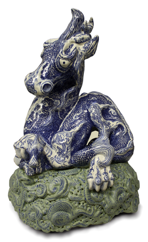 Dragon of Ming ceramic sculpture, click on picture for bigger version