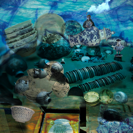 Blue revolution Dongguan, Digital collage for Underwater room