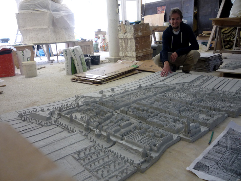 Delft maquette Anno Domini 1649, work-in-progress