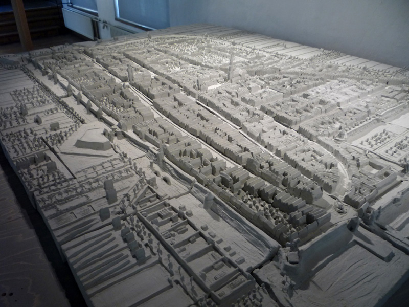 Delft maquette Anno Domini 1649, South-west corner of the city centre