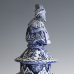 Delftware Garniture on display
