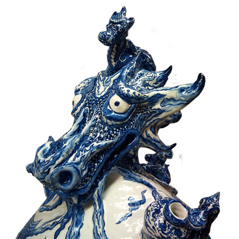Dragons of Ming vase