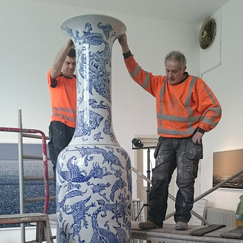 The Nan Hai blue creatures vases 1 and 2